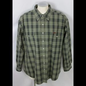 Carhartt Pearl Snap Shirt Size 2XL. Condition is P